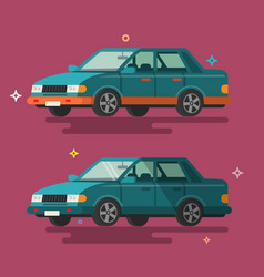 car flat design vector image