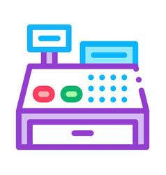 cash machine icon outline vector image