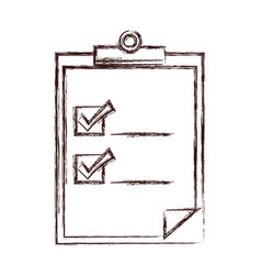Checklist document icon vector