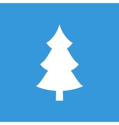 Christmas tree flat icon vector