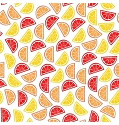 citrus seamless pattern slices tropical fruits vector image