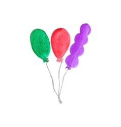 Colorful air baloons Watercolor object on the vector image