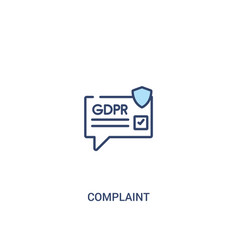Complaint concept 2 colored icon simple line vector