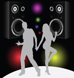 couple in disco vector image
