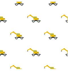Crane truck pattern flat vector