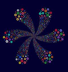 Create centrifugal spin vector