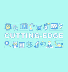 Cutting edge word concepts banner medicine vector
