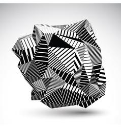 Decorative complicated unusual eps8 figure vector image