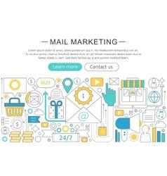 elegant thin line flat modern Mail vector image