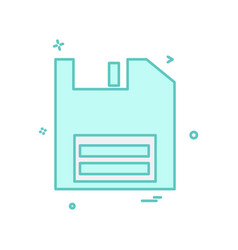 floppy icon design vector image