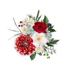 Floral bouquet design element autumn winter vector