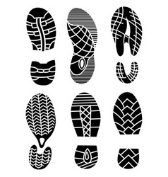 footprint icons isolated on white background vector image