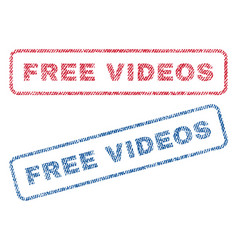 Free videos textile stamps vector