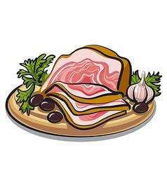 Fresh bacon vector