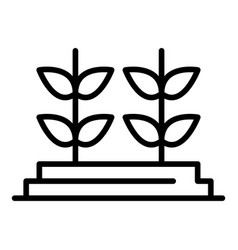 Genetically modified plants icon outline style vector
