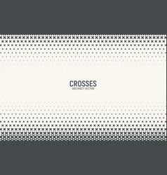 halftone gradient with crosses texture vector image