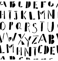 Hand-drawn Doodles Alphabet Seamless Pattern vector image