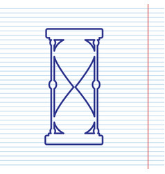 hourglass sign navy line vector image