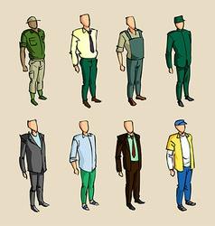 Infographic man sketch elements vector