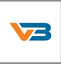 initials vb logo abstract designs vector image