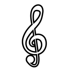 Isolated g-clef musical note vector