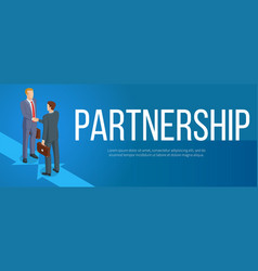 Isometric partnership banner vector
