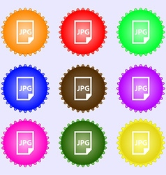 Jpg file icon sign big set of colorful diverse vector