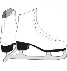 Lady's ice skates vector image