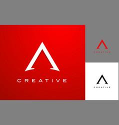 letter a design a logo icon vector image