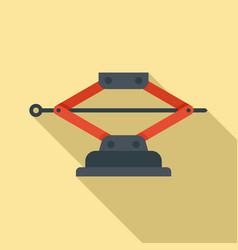 Machine jack-screw icon flat style vector