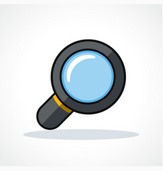 magnifying glass design clipart vector image