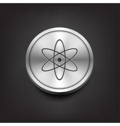 Molecule icon on silver button vector image