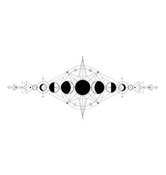 moon phases astrology celestial symbols mystical vector image