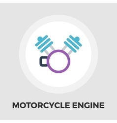 Motorcycle engine icon flat vector