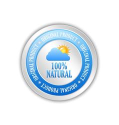 Natural original product badge icon vector