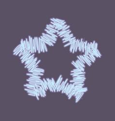Neon esquisse star vector