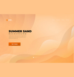 orange abstract background landing page website vector image