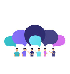 people discuss news with each other vector image