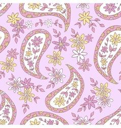 Pink summer floral pattern vector image