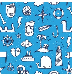 pirate tattoo seamless pattern vector image