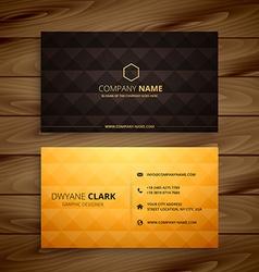 Premium diamond shape golden business card vector