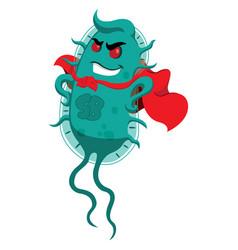 Resistance to antibiotics superbug a microorganism vector