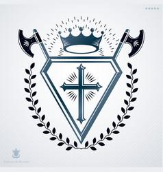 Retro vintage design element heraldic royal vector