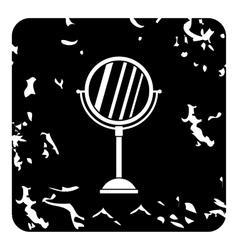 Round mirror icon grunge style vector