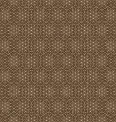 Seamless abstract geometric hexagon circle line vector