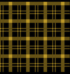 Seamless gold and black tablecloth pattern vector