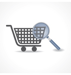 Searching for shopping concept vector