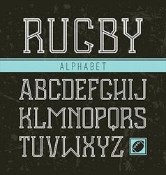 Serif font medium in the sport style vector