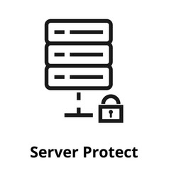 server protect line icon vector image