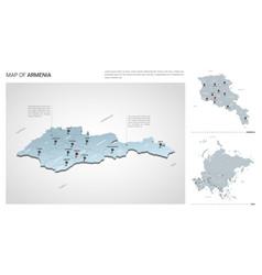 Set armenia country isometric 3d map armenia vector